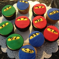 Lego Ninjago Birthday Cupcakes Cupcakes for my son and his best friend's birthday party this weekend! LEGO Ninjago was really fun!