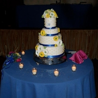 Wedding Ranunculas White Velvet cake/IMBC w/ white chocolate/fondant/gumpaste flowers/buds/leaves