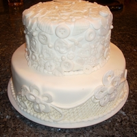 "Small Wedding Cakes 12"" & 8"" cake with lots of embellishments."