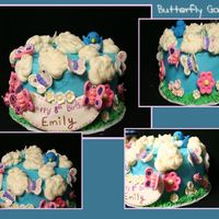 Butterfly Birthday Cake  buttercream w/ Satin Ice decorations. Made this for my 8 year old's b-day party. Had a lot of fun w/ this one....thanks to all of you...
