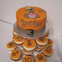 Dog Themed Cupcake Tower