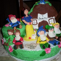 Snow White And 7 Dwarfs All Hand Sculpted For Other Great Granddaughter All Edible   snow white and 7 dwarfs all hand sculpted for other great granddaughter all edible