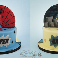 Half And Half! Batman And Spiderman For Twins