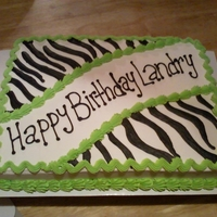 Zebra And Lime Green