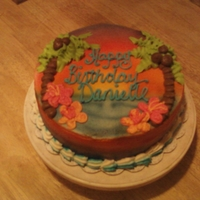 Hawaiian Birthday Airbrushed with BC decorations