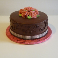 Wasc Cake With Chocolate Mousse Filling And Chocolate Icing WASC cake with chocolate mousse filling and chocolate icing.