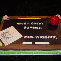 Teacher's Chalkboard Cake