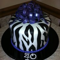 Zebra Cake Made for my sisters 40th
