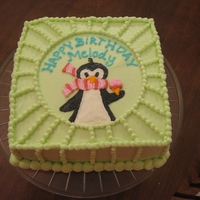 Penguin Jammies My nine year old daughter brought me her favorite jammies and asked me to copy the pattern for you birthday cake this year.Cute little guy...