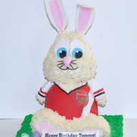 Bunny Cake 3D Bunny Birthday Cake for a soccer fan