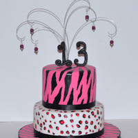 Diva Birthday Cake Diva Birthday Cake with zebra and leopard animal print