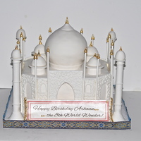 The Taj Mahal Birthday Cake With 22K Gold Leaf The Taj Mahal Birthday Cake with 22k Gold Leaf