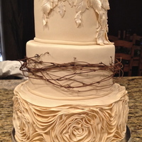 Ivory Rustic Wedding Cake Ivory Rustic Wedding Cake