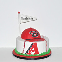 Diamondbacks Baseball Birthday Cake Arizona Diamondbacks Baseball Birthday Cake