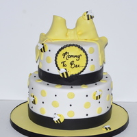 "Mommy To Bee Baby Shower Cake ""Mommy To Bee"" Baby Shower Cake"