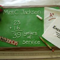 School Teacher My spin on the popular chalkboard cake. Full sheet cake with fondant accents. Thanks for looking!