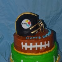 Steelers Football Chocolate cake, Vanilla, and confetti