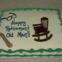 Old Man Retirement This is the cake that I had to redo because the customer didn't like the first one I did (See previous pic in my album). This one is...