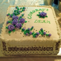 Graduation Cake   buttercream