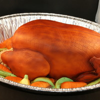 Roast Turkey Cake This was for a client for their thanksgiving dinner. Everything is edible and I even made a caramel sauce for them to use as gravy. It was...