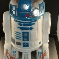 3D R2D2 This was my sons birthday cake. It had a light inside that could be switched on.