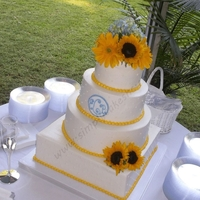 Multi Shaped Wedding Cake Simple and elegant!