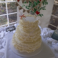 White Chocolate Ruffles I loved doing this cake. Wrapped white chocolate.