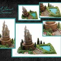Hogwarts Castle   Castle topper is styrofoam airbrushed to match....all other parts are edible.
