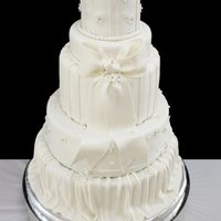 Bailey   Sizes are 14, 12, 9,7,5.....all covered in white chocolate fondant.
