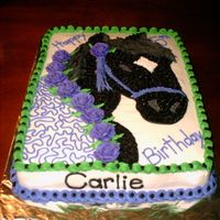 Black Beauty Horse Birthday Cake This cake was made for a young girl who really wanted a Black Beauty birthday cake. I had never fathomed making a horse cake but found...