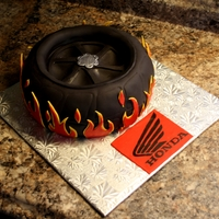 Motorcycle Wheel Cake