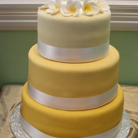 Simple Yellow Wedding Cake