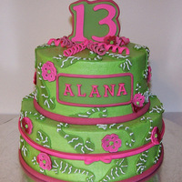 Lily Pulitzer Cake This cake was for a girl who loves Lily Pulitzer patterns. It was a surprise for her & her Mom asked me if I could do a pink &...