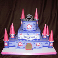 Princess Castle Birthday Cake This was such a fun cake. Buttercream cake with various flavors. Fondant accents. Thanks CC for all the wonderful ideas. They loved it &amp...