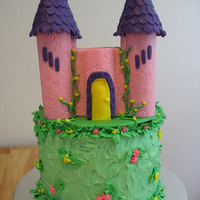 For My Grand Daughters 5Th Birthday Castle Done In Fondant And Rest Is Buttercream For my grand daughter's 5th birthday. Castle done in fondant and rest is buttercream.