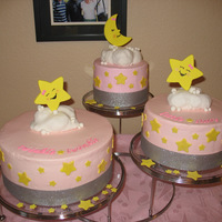 Twinkle Little Star Cakes For Twin Girls Top Cake Is Vegan Twinkle Little Star cakes for twin girls. Top cake is vegan.