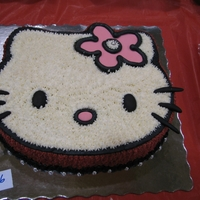 Hello Kitty   ....for cake raffle at school!...buttercream and fondant accents