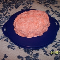 Rosettes Small cake I had fun monkeying around with attempting the Rosette techinique.