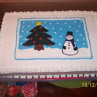 Red Velvet Cake Iced In Almond Vanilla Buttercream Fbct Snowman Scene Done For A Party At Our Boat Club Red Velvet cake iced in Almond-Vanilla buttercream. FBCT snowman scene. Done for a party at our boat club.