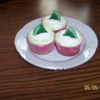 Margarita Cupcakes Margarita flavored cupcakes (non-alcoholic) iced with Whimsical Bakehouse House Buttercream, sugared rim to look like a salt rim, and a...