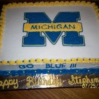 Michigan This was done for one of my sons friends, my son is an OSU fan, and as you can see his friend cheers for Michigan the traitor lol, just...