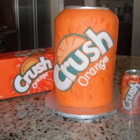"Can Of Crush Groom's Cake Bride wanted to surprise her groom with a can of crush. That was how he told her he liked her.... a can of Crush. ""Crush"" cut..."