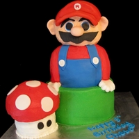 Mario Loved doing this one! I was holding my breath hoping his head would stay on during delivery..
