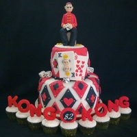 "Lucky 9 At 82 A cake for ""Kong Kong"" an endearment referring to the Chinese term ""Angkong"" meaning ""Grandfather"" =) The..."