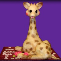 Sofie The Giraffe  This was my first cake for a wonderful organization called IcingSmiles. The little girl's favorite toy was Sofie the Giraffe, so here...