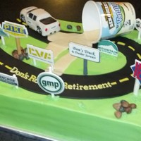 Road To Retirement My Dad retired so we captured his road to retirement in buttercream icing and MMF details. I assembled this cake on location traveling with...