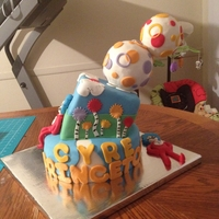 Dr Suess Lorax/ Thing 1 And 2 Baby Shower Cake