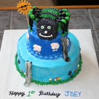 Itsy Bitsy Spider Had a friend request an itsy bitsy spider cake for her 1 year old sweet little boy. Inspiration from SaltCakeCity. Green, light blue, and...
