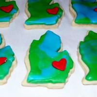"Detroit Love  *Not exactly ""Christmas"" cookies but, they were made with love. I sent these to my family in Houston that was not here for the..."