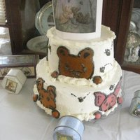 Classic Pooh For my daughter/grandsons baby shower...fondant faces buttercream icing